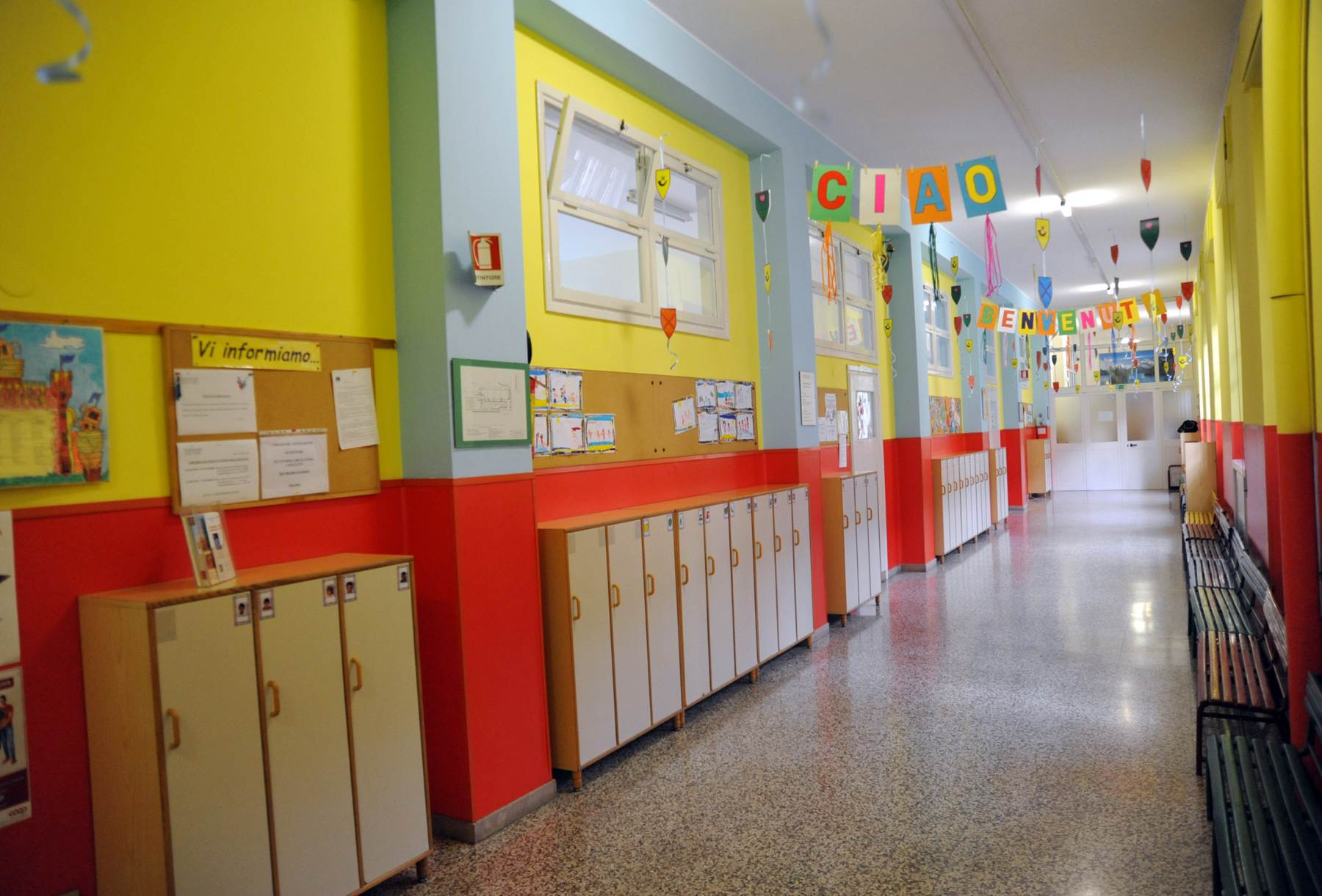Corridoio scuola infanzia