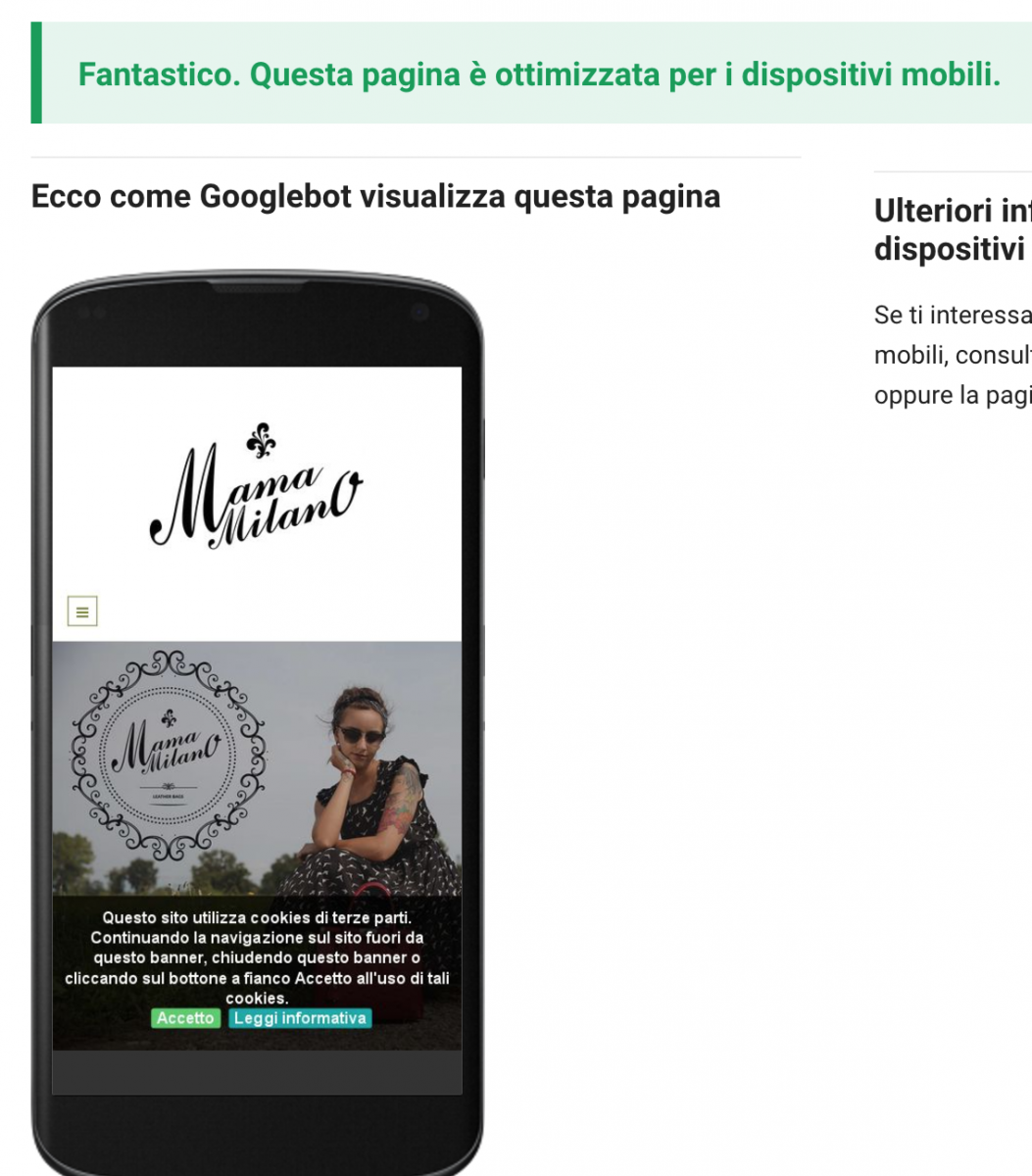 Google verifica siti mobile