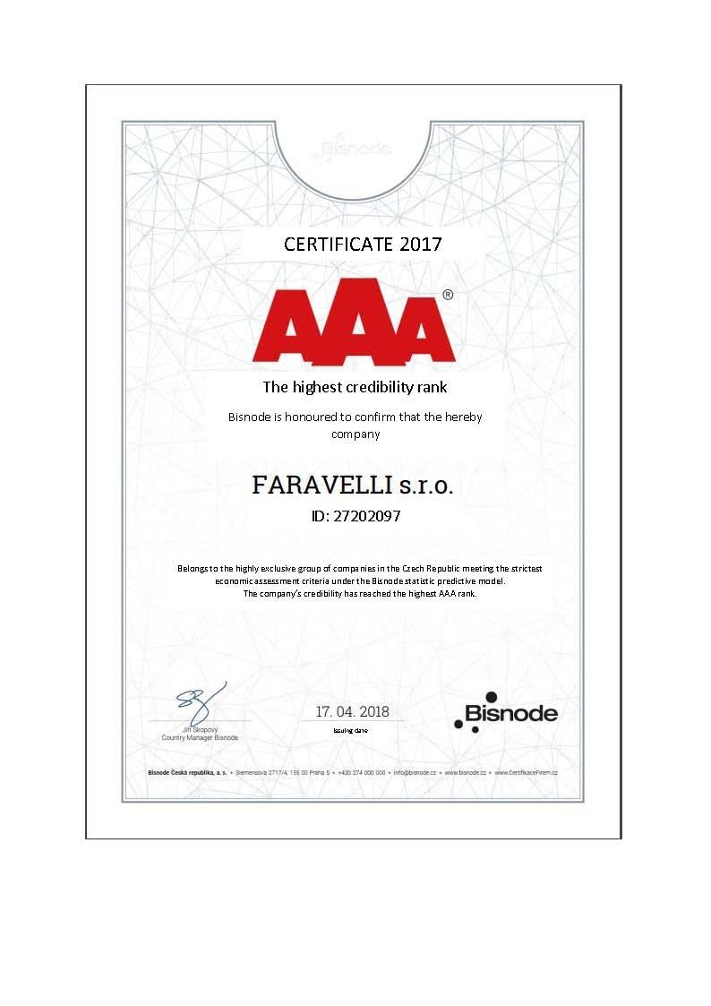 Bisnode AAA ranking